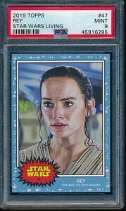 2019 Topps Star Wars Living Set #47 Rey PSA 9 Mint SP Card The Force Awakens