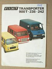 Prospectus Camion FIAT TRANSPORTER Gamme Catalogue  brochure  prospekt truck LKW