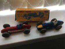 Vintage Dinky Toys Racing Car Maserati 23n Ferrari 234 and a box