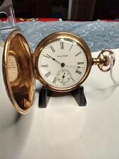 Hunter Case Pocket Watch Grade H Antique 6S Waltham 11 Jewel Gold Filled