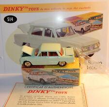 DINKY TOYS ATLAS ALFA ROMEO GIULIA 1600 TI VERT PALE REF 514 IN BOX 1/43