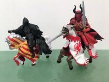 Papo Medieval Fantasy Mixed Lot 4 Faceless Horseman , 2006 Knight Horse Dragon
