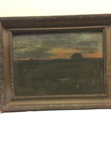 Vintage Oil Painting On Board Landscape W.H.S. Pearse  Mass.