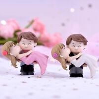 Romance Couple Bride Groom Model Miniature Landscape Wedding Decorative Ornament