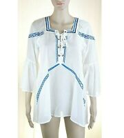 Blusa Camicia Donna Casacca Leggera Top PINKO Made in Italy I944 Bianco Tg M