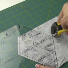 Acrylic Ruler Hot Diamond Shaped Quilt Patchwork Template Quilting Sewing Tool