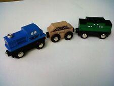 Maxim Wood 3Pc Model Train-2013~Engine/Coal Car/Passenger~Thomas~Boys & Girls-3+