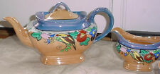 23 Pc. Lusterware Luster Ware dishes cups TEA orange Blue with birds and flowers