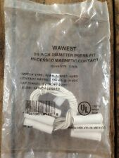 """Lot of 3 - WAWEST 3/8"""" Diameter Press Fit Recessed Magnetic Contacts"""