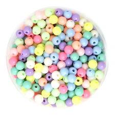 100 Perles Ronde acrylique couleur mixte 6 mm