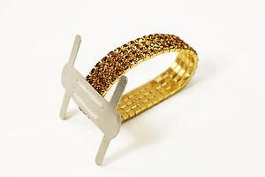1 pc Rhinestone Wrist Band Stretch Corsage Flower Holder Wedding Prom 3 Colors