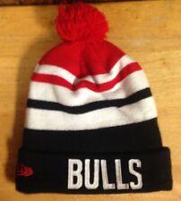 authentic NEW ERA CHICAGO BULLS BEANIE CAP ski hat w/POM POM TOP nba BASKETBALL