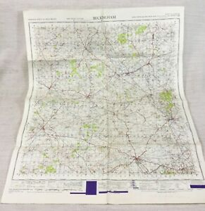 1947 Vintage Military Map of Buckingham Bletchley Aylesbury War Office Issue