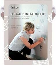 Lotta's Printing Studio, Jansdotter, Lotta, Very Good Book