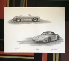 Porsche 356 Speedster Roadster 959 Wide Body Print By James Anthony Record