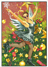 Gay Lesbian LGBT Holiday Cards Lesbian Sugar Plum Fairy Doc Marten UK Import