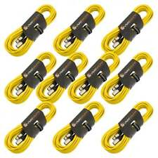 10 x 10m Macho a Cable Hembra Mic XLR / Micrófono Balanceado Cable / Amarillo