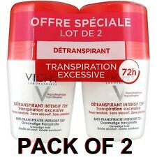Vichy Deodorant Stress Resist Anti-Perspirant Roll-On 72h (2x 50ml)