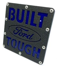 "Ford Hitch Cover - Stainless Steel Built Ford Tough Emblem 2"" Trailer Plug"