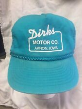 Dirk's Motor Co Akron Iowa  Baseball Cap Hat