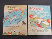 2 Weekly Reader Books ~ McBroom's Ghost 1971 & Big Wind 1967 ~ Sid Fleischman HC