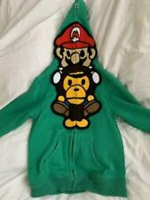 Nintendo Baby Milo A Bathing Ape Mario Sweater Hoodie Limited Collab Zip SIZE: S