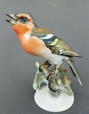 Rosenthal Vogel Figur, Buchfink, Entw. Heidenreich 1937, H=13,5 cm, Mod-Nr. 1651