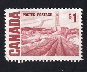 "Canada used: 1967 Centennial definitive $1 ""Edmonton Oil Field"", sc#465B"