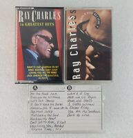 Ray Charles- Cassette Tape lot 3 tapes greatest hits - would you believe