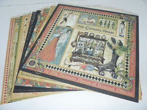 LOT OLDE CURIOSITY SHOPPE GRAPHIC 45 DOUBLE SIDED DESIGNER PAPER 12 x 12