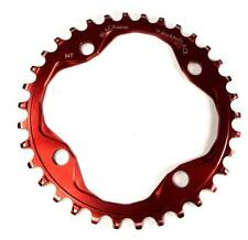 ABSOLUTE BLACK 34T RED ALLOY 104BCD NARROW WIDE N/W CHAINRING 9 10 11 12 SPEED