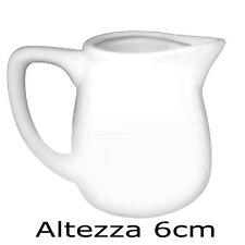Lattiera in Porcellana bianca serie table top (6cl) altezza 6cm