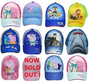 Kids Character Cap Officially Licensed Boys Girls Summer Sun Hat
