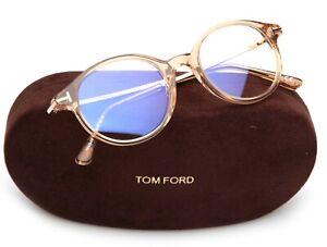 NEW TOM FORD TF 5554-B 045 TRANSPARENT GOLD EYEGLASSES  48-19-145mm 40mm Italy