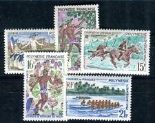POLYNESIE 1967 Yvert 47-51 ** POSTFRISCH TADELLOS SATZ (F3887