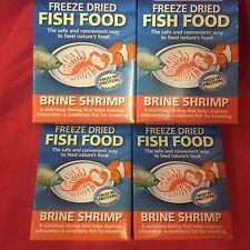 Brine Shrimp 4 x 4 Grm Freeze Dried Fish Food Tropical Goldfish Marine Treats