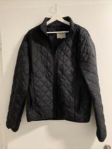 Dünne Blend Jacke - Übergangsjacke (Herren/Männer) schwarz XL