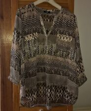 Wallis Hip Length Blouse 3/4 Sleeve Tops & Shirts for Women