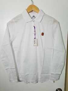 1 NWT PETER MILLAR WOMEN'S LS POLO, SIZE: SMALL, COLOR: WHITE (J92)