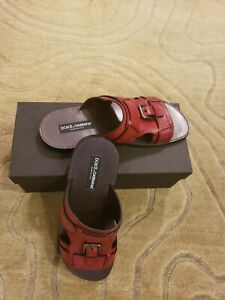 DOLCE&GABBANA NWB Men's Sandals Size 8.5 Made in Italy