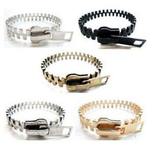 1 Fashion Unique Zipper Zip Shape Metal Bangle Bracelets 5colors-1 N110-N114