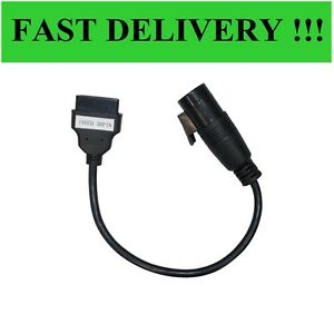 Iveco 30 pin to OBD/OBD2  adapter cable For Delphi, AUTOCOM, CDP