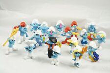 18 Smurf Vinyl PVC Figures Peyo Schleich McDonalds 3 Repeats