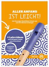 Flötenschule inkl. DVD + CD Blockflöte Notenheft Anfänger Kinder
