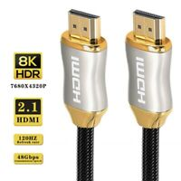 HDMI 2.1 Cable 8K@60Hz HDR Premium High Speed 48Gbps HDMI Cord For TV PS4