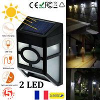 Eclairage solaire 2LED Mur Monter Lumière Extérieur Jardin Paysage Clôture Lampe