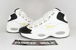 Reebok Question Mid Black toe EF7599 Size 10.5