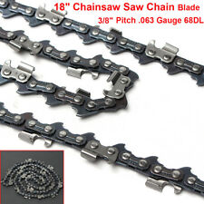 18'' Chainsaw Saw Chain Blade For Stihl MS251 MS251C 3/8'' Pitch .063 Gauge 68DL