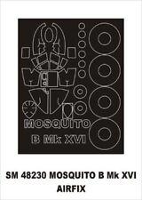 Montex Mini Mask 1:48 D.H.Mosquito B Mk.XVI for Airfix Spraying Stencil #SM48230