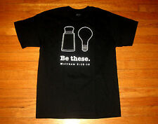 Christian SALT of the Earth & LIGHT of the World BE THESE Mens MEDIUM Black Tee